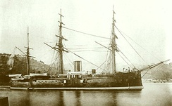 The ironclad Fusō, between 1878 and 1891