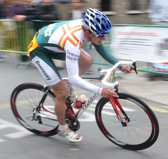 Joshua Gosselin racing for the Guernsey Velo Club