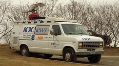 Electronic news-gathering unit supporting KXMB and sister stations