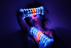 LED costume for stage performers