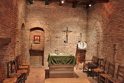 St Dominic's room at Maison Seilhan is considered the birthplace of the Dominican Order.