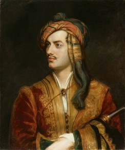 Portrait of Lord Byron by Thomas Phillips, 1813.