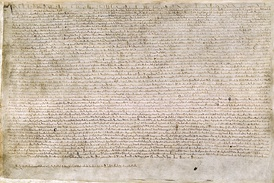 "Magna Carta or ""Great Charter"" was one of the world's first documents containing commitments by a sovereign to his people to respect certain legal rights"