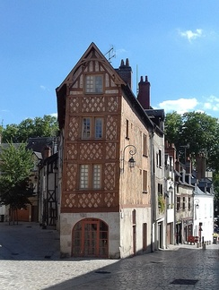 A half-timbered house in Orleans