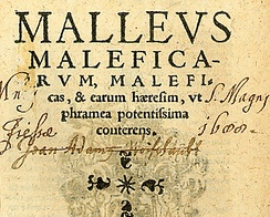 Titlepage from the book Malleus Maleficarum