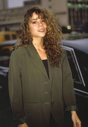 "Carey exiting Shepherd's Bush Empire after promoting her single ""Vision of Love"" on Wogan in 1990"