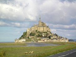 The Mont-Saint-Michel in Normandy, France