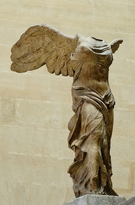 The Nike of Samothrace (Winged Victory), marble, circa 190 BC