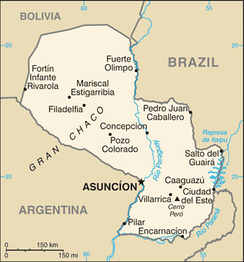 A map of Paraguay