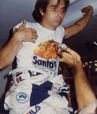 Mansell's Williams teammate Nelson Piquet (pictured in 1983) finished third.