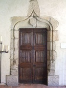Doorway in granite, in oak, France, Limousin, 15th c, Aixe sur Vienne