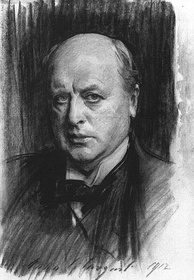Portrait of Henry James, charcoal drawing by John Singer Sargent (1912)