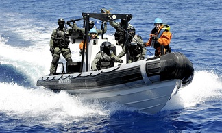 VBSS action carried by a boarding team of the frigate NRP Bartolomeu Dias of the Portuguese Navy.