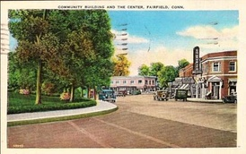Fairfield Community Theater, shown in this 1938 postcard, was operated by the Fairfield Community Theatre Foundation.