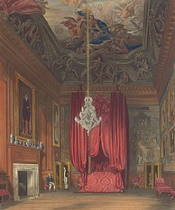 Queen Mary II's Bedchamber, also known as Queen Caroline's State Bedchamber.