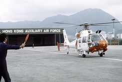 Royal Hong Kong Auxiliary Air Force Aérospatiale SA 360 Dauphin SAR helicopter
