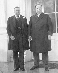 Theodore Roosevelt con William Howard Taft en 1909.