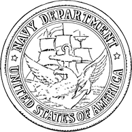 Seal of the U.S. Department of the Navy from 1879 to 1957.