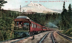 Southern Pacific's Shasta Limited on the OWR & N.