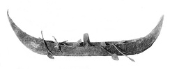 Silver model of a boat, tomb PG 789, Royal Cemetery of Ur, 2600-2500 BCE.