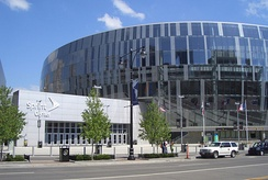 Sprint Center entrance from Grand Boulevard in 2008.