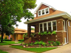 A typical Chicago Bungalow, examples of which are found in abundance on the South Side.