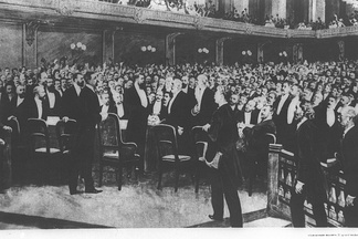 The delegates at the First Zionist Congress, held in Basel, Switzerland (1897)