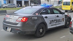 A Ford Taurus Police Interceptor operated by the Georgian Patrol Police.
