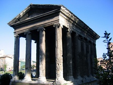 The Temple of Portunus, Rome, built between 120–80 BC