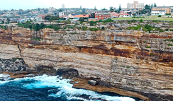 Almost all of the exposed rocks around Sydney are Sydney sandstone.