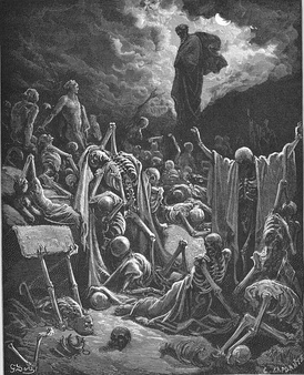 Ezekiel's Vision of the Valley of Dry Bones, engraving by Gustave Doré (1866)