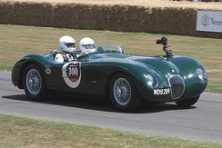 Jaguar C-Type, similar to which Rolt and Hamilton drove to victory at Le Mans