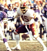 The Redskins defeated the Vikings in the 1987-88 NFC Championship Game (left) and went on to top the Broncos in Super Bowl XXII (right), winning their second Super Bowl ring.