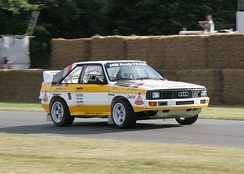 Michèle Mouton's Audi Sport Quattro at the 2006 Goodwood Festival of Speed