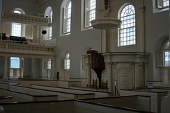 Old South Meeting House, one of the churches where George Whitefield preached while in Boston in 1740.[36]