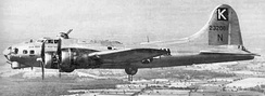 Boeing B-17G Flying Fortress 42-32081, 708th BS 'Yellow Cab' Hit by flak and crashed into the North Sea killing all nine on board.