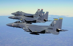 4th Operations Group McDonnell Douglas F-15E Strike Eagles 89-0495 (336 FS), 88-1704 (334 FS) and 89-0485 (333 FS)