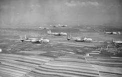 Squadron of 60th TCG C-82 Packets over Europe, 1952
