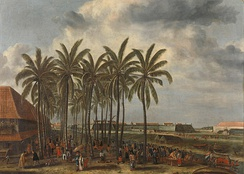 Dutch Batavia built in what is now Jakarta, by Andries Beeckman c. 1656