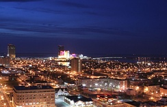 Night time view of Atlantic City