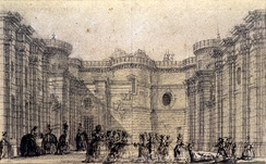 A sketch of the main courtyard in 1785[K]