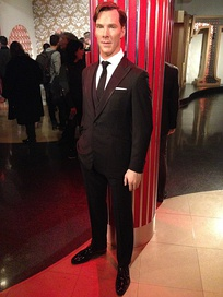 Waxwork of Cumberbatch on display at Madame Tussauds London