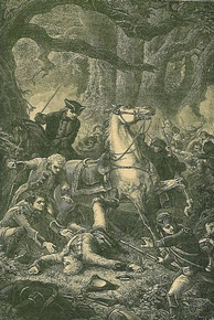 After three hours of intense combat, General Braddock was mortally wounded, resulting in the withdrawal of British forces.