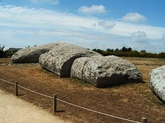 the Great Menhir of Er Grah in Brittany, the largest known single stone erected by Neolithic man, which later fell down