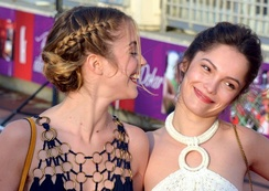 Alice Isaaz and Lola Le Lann at the Cabourg Film Festival, 2015.