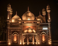 The Darbar Mahal mosque was built in an exuberant style.
