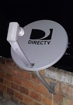 "DirecTV WNC SF6 Gray HD 2-LNB ""Round"" satellite dish used only in Latin America and the Caribbean"