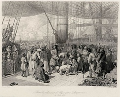 Abraham Duquesne delivering Christian captives in Algiers after the bombing in 1683.