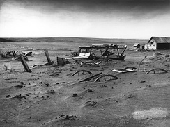 A South Dakota farm during the Dust Bowl, 1936