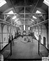 Interior of a gym in The Netherlands, around 1900